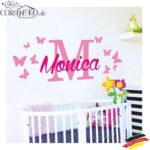Wandaufkleber Kinderzimmer Kinderzimmer Wandtattoo Wunschname Schmetterlinge 2 Farben Mdchen Baby Junge Sofa Kinderzimmer Regal Weiß Regale