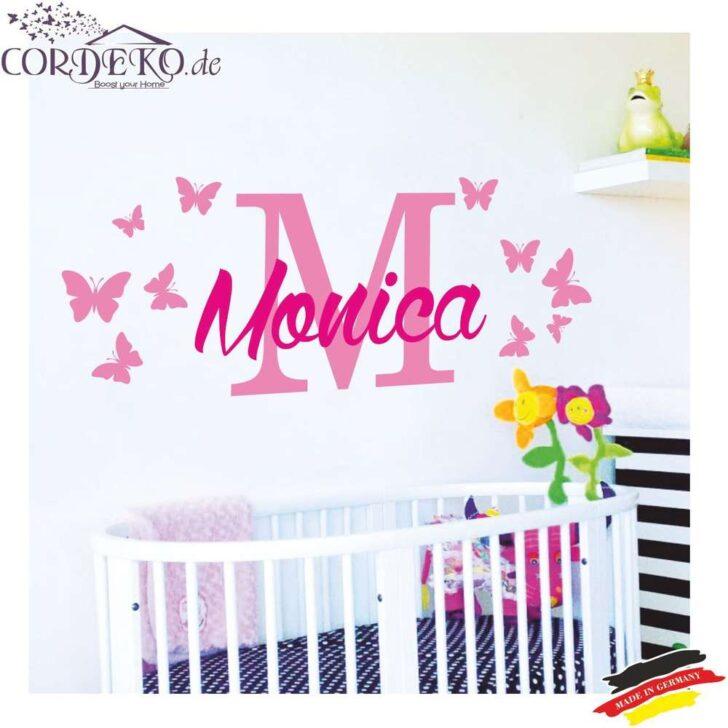 Medium Size of Wandtattoo Wunschname Schmetterlinge 2 Farben Mdchen Baby Junge Sofa Kinderzimmer Regal Weiß Regale Kinderzimmer Wandaufkleber Kinderzimmer