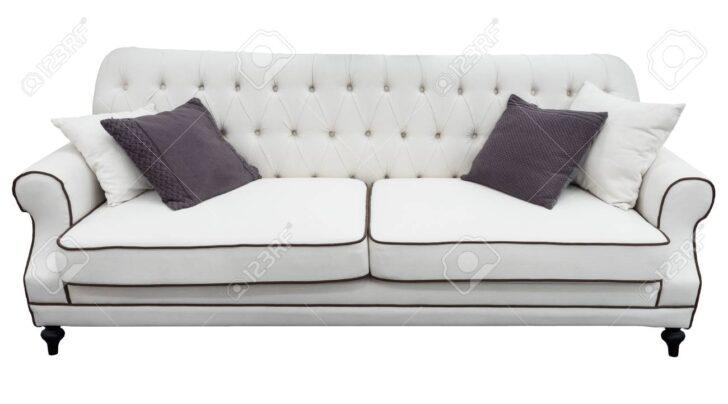 Medium Size of Weies Sofa Mit Kissen Weiche Couch Lokalisierter Hintergrund Bora Stoff Schlaf U Form Schlafsofa Liegefläche 180x200 Minotti 3er Grau Big Poco Copperfield Sofa Weißes Sofa