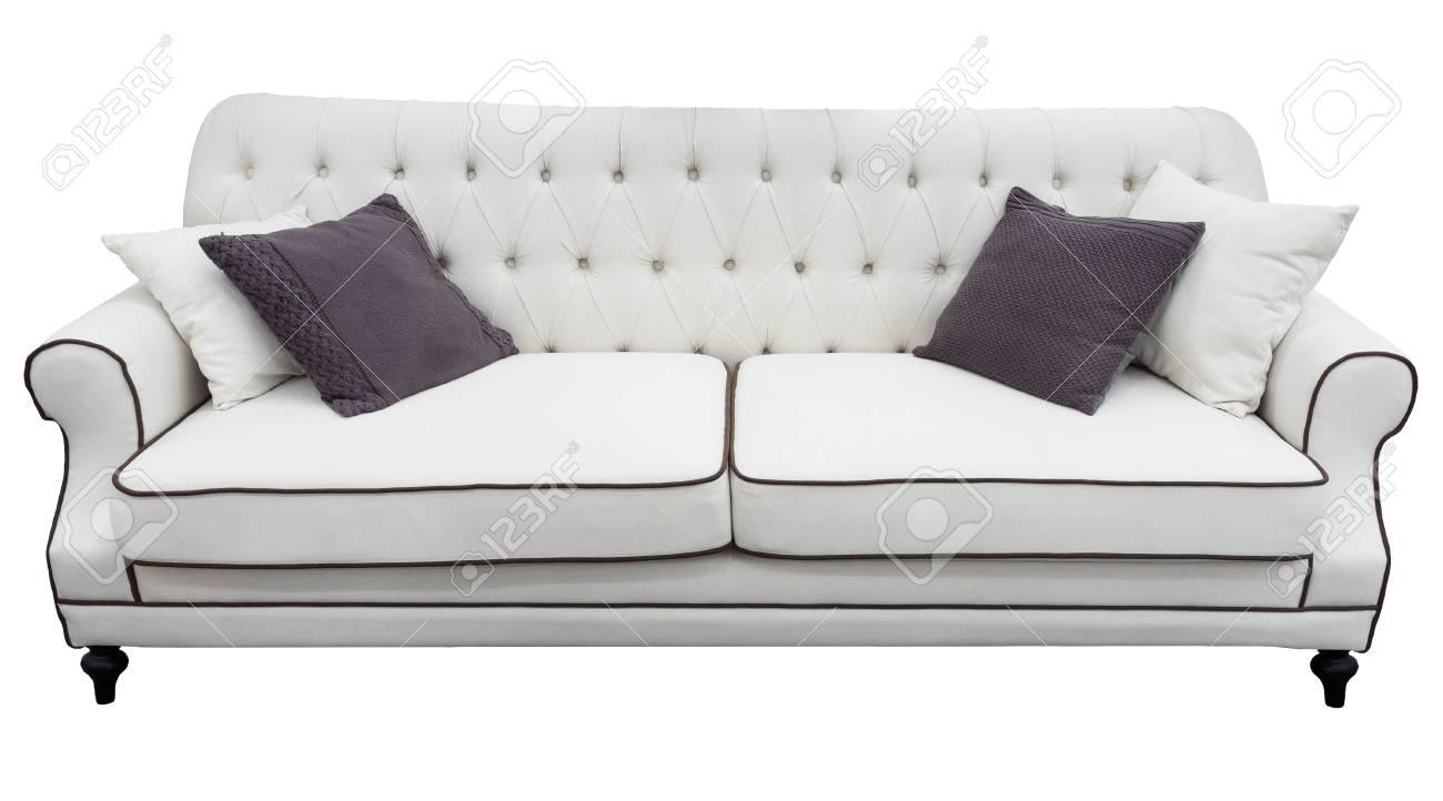 Full Size of Weies Sofa Mit Kissen Weiche Couch Lokalisierter Hintergrund Bora Stoff Schlaf U Form Schlafsofa Liegefläche 180x200 Minotti 3er Grau Big Poco Copperfield Sofa Weißes Sofa
