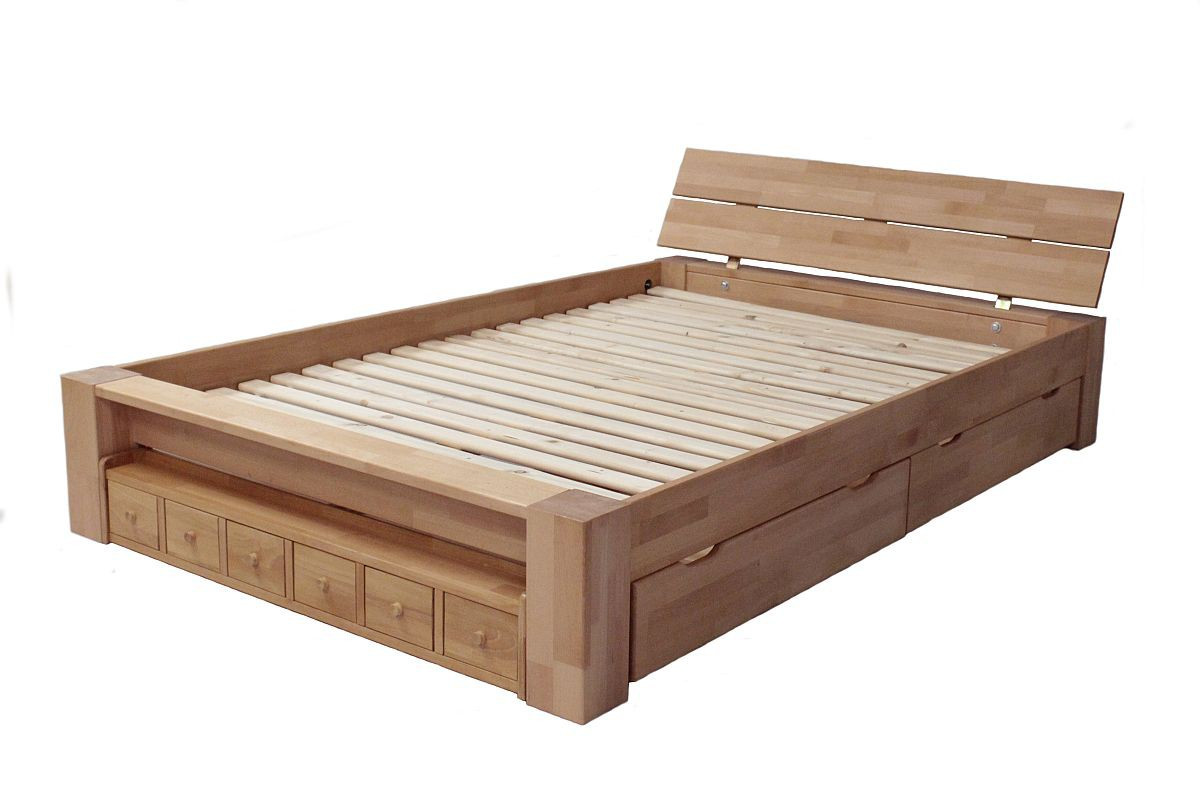 Full Size of Bett 140 X 200 Holzbett Buche Massiv Mit Schubksten Alaska 0355 Tagesdecken Für Betten Selber Bauen 180x200 140x200 200x220 Matratze Und Lattenrost 120x200 Bett Bett 140 X 200