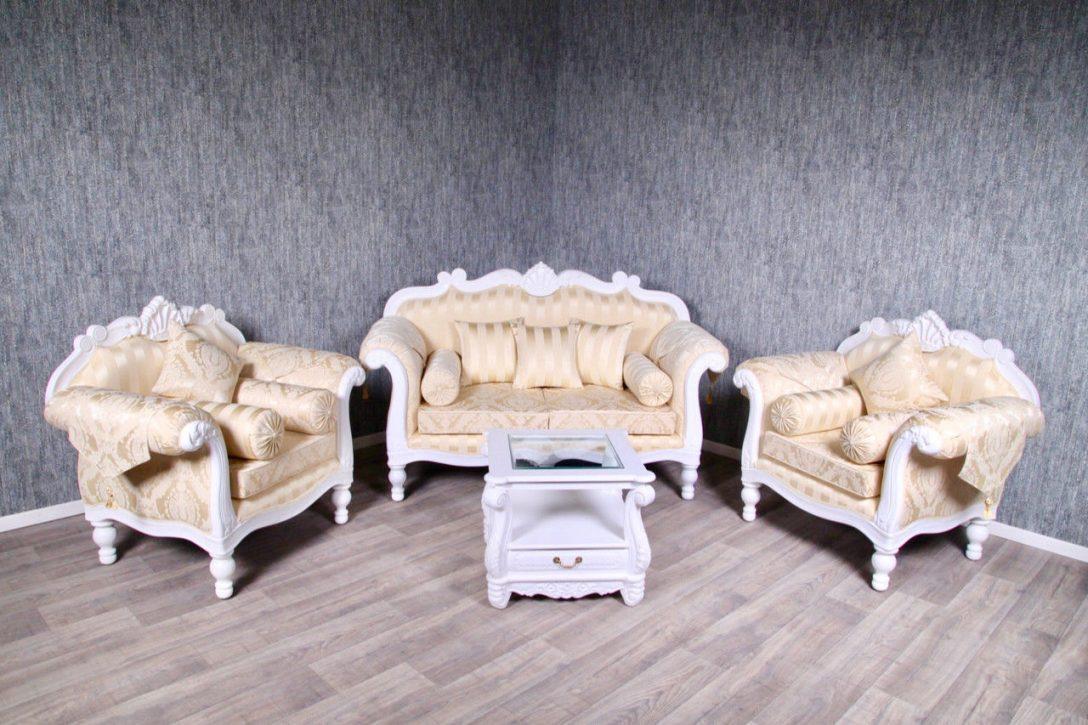 Large Size of Barock Sofa Garnitur Couch Sessel Antik Massiv Wei Creme Gold Ausziehbar Ottomane Blau Rattan Garten Kleines Wohnzimmer Türkis Hannover Big Grau Kissen Muuto Sofa Barock Sofa