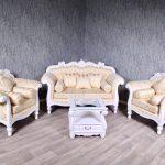 Barock Sofa Garnitur Couch Sessel Antik Massiv Wei Creme Gold Ausziehbar Ottomane Blau Rattan Garten Kleines Wohnzimmer Türkis Hannover Big Grau Kissen Muuto Sofa Barock Sofa
