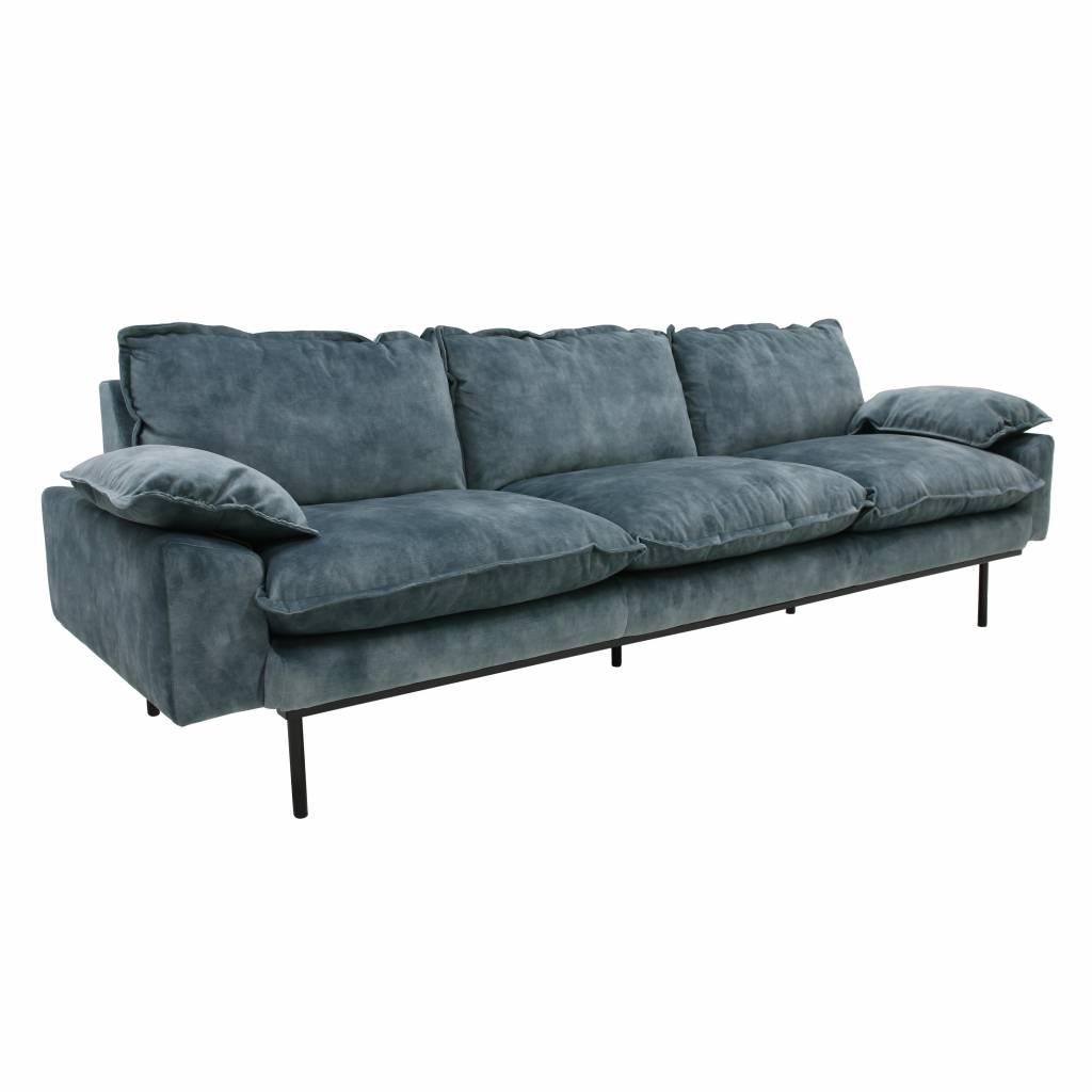 Full Size of Hkliving Sofa Retro 4 Seater Velvet Petrol Blue New Collection W Schillig Mit Elektrischer Sitztiefenverstellung Le Corbusier Hussen Riess Ambiente Sofa Sofa Petrol