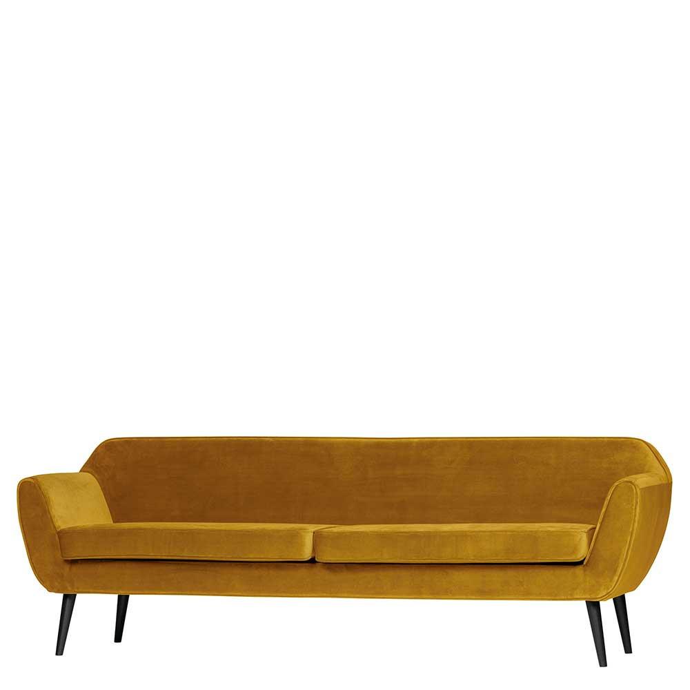 Full Size of 3er Sofa Retro Style Aus Samt Gelb Mit Holz Birke Schwarz Ergonio Relaxfunktion 3 Sitzer Garnitur 2 Big Xxl Zweisitzer Leinen Schlaffunktion Federkern Delife Sofa 3er Sofa