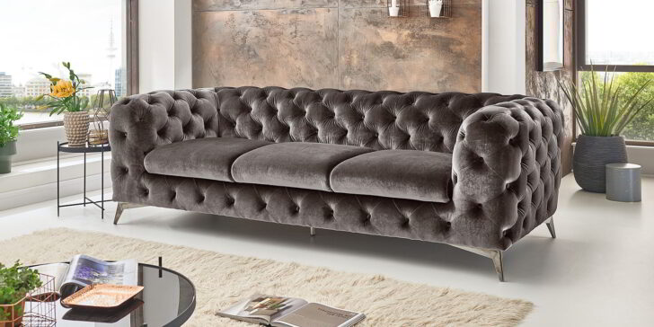 Medium Size of Ikea Couch Grau 3 Sitzer Sofa Louisiana (3 Sitzer Mit Polster Grau) Leder Schlaffunktion Retro Kingsley 3 Sitzer 2 Und Nino Schwarz/grau Rattan Samt Sofa Sofa 3 Sitzer Grau
