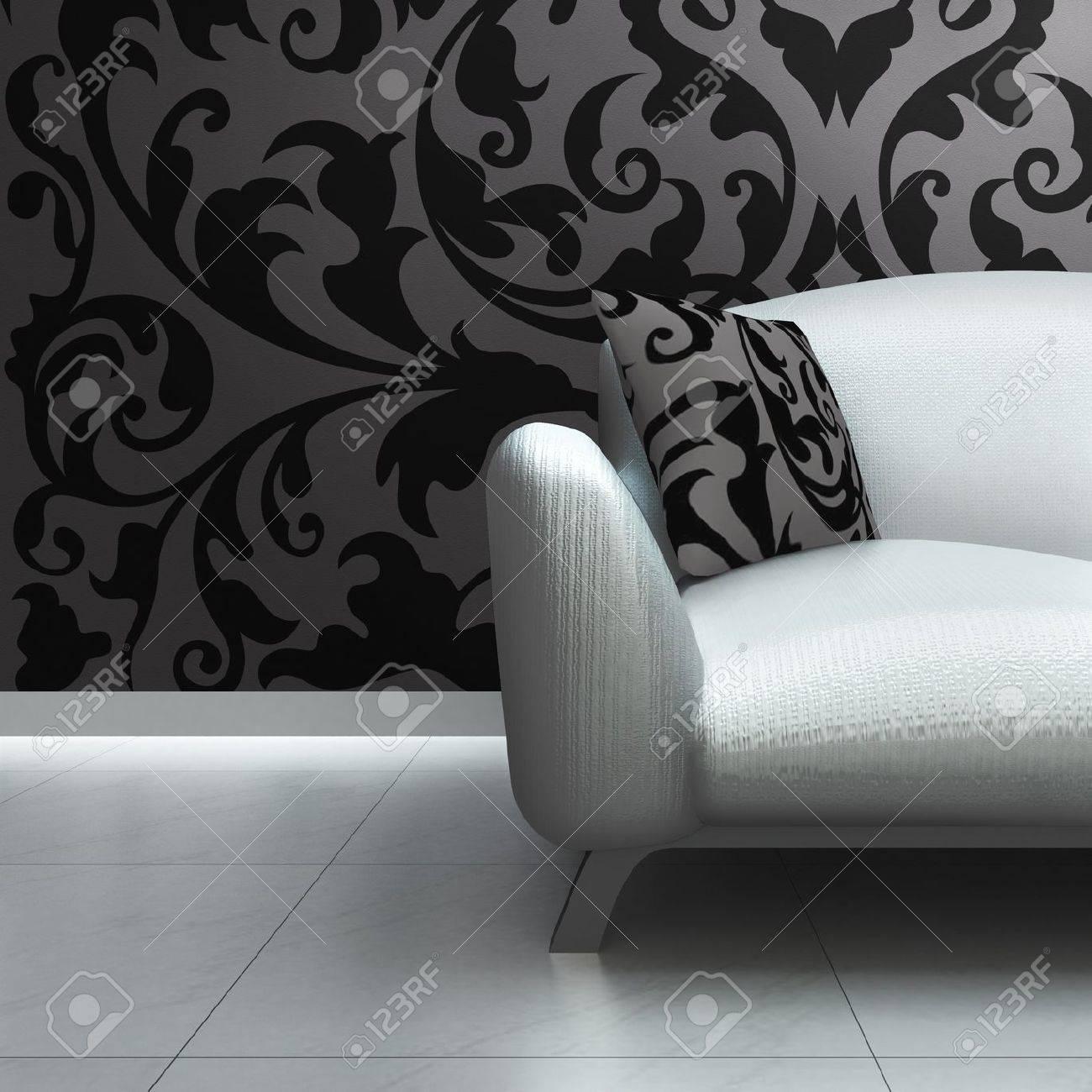 Full Size of Luxus Sofa Ein Zeitgenssischer In Einem Innenraum Lizenzfreie Big Grünes Weißes Höffner Chesterfield Online Kaufen Modulares Weiß Grau Lagerverkauf Mit Sofa Luxus Sofa