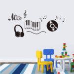 Wandaufkleber Kinderzimmer Kinderzimmer Diy Musik Noten Vinyl Wandaufkleber Regale Regal Weiß Sofa