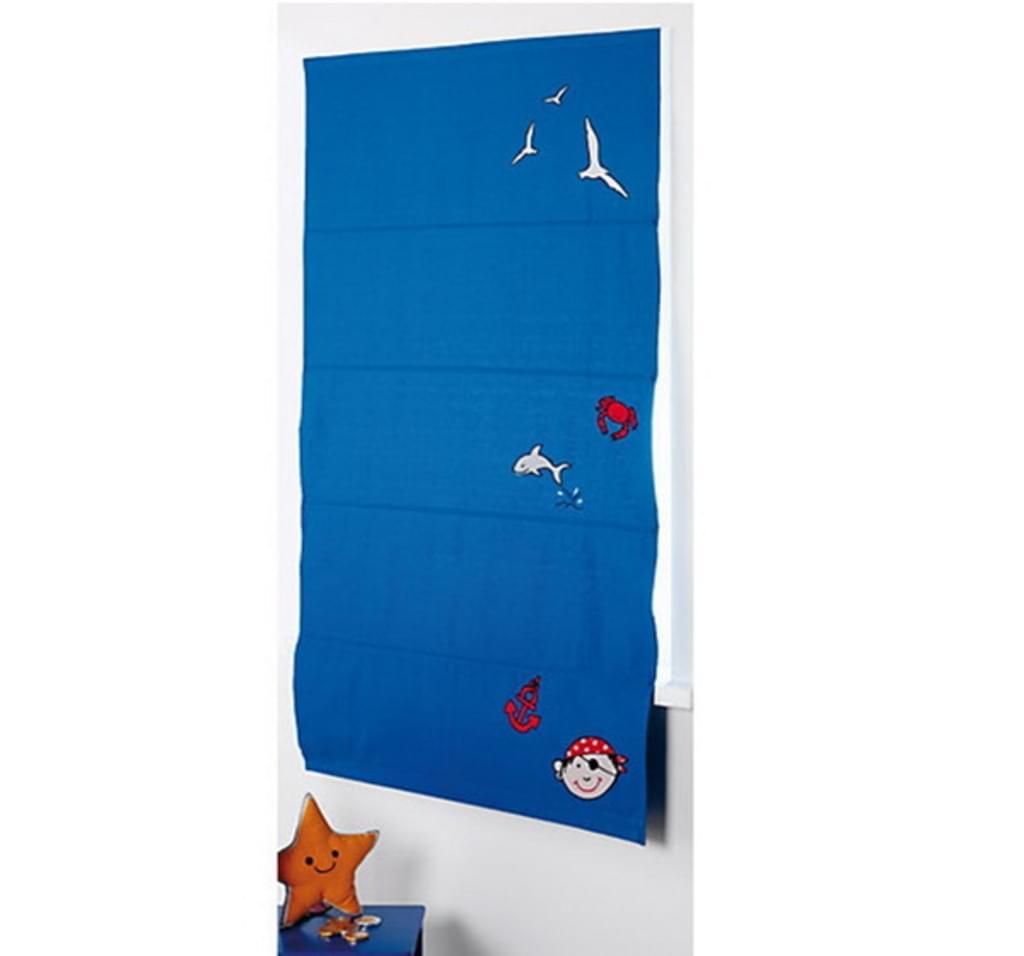 Full Size of 4uniq Raffrollo Pirat Blau 80x140 Cm Real Küche Regal Kinderzimmer Sofa Weiß Regale Kinderzimmer Raffrollo Kinderzimmer