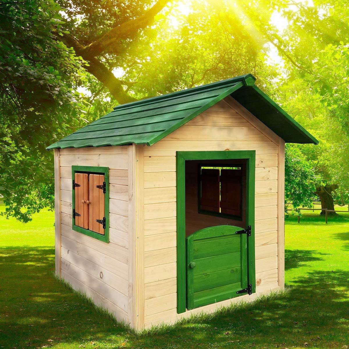 Full Size of Holzhaus Kind Garten Brast Spielhaus Fr 106 X111x132cm Tannenholz 12mm Kinderspielturm Bett Kleinkind Lounge Möbel Whirlpool Aufblasbar Gartenüberdachung Garten Holzhaus Kind Garten