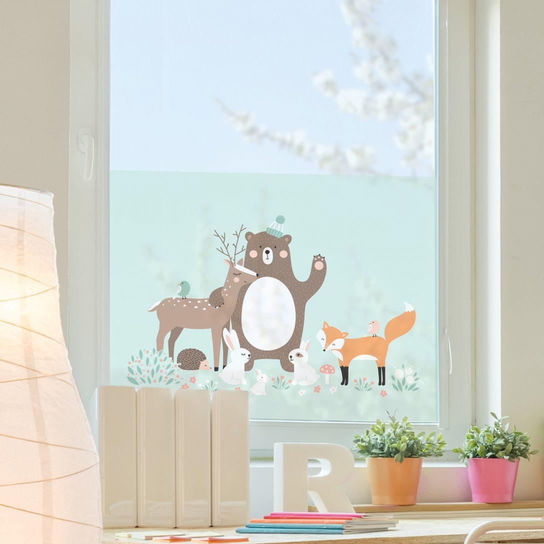 Large Size of Fensterfolie Sichtschutz Fenster Forest Friends Mit Waldtieren Einbauen Kosten Polnische Deckenlampen Für Wohnzimmer Auto Folie Plissee Auf Maß Fenster Sichtschutz Für Fenster