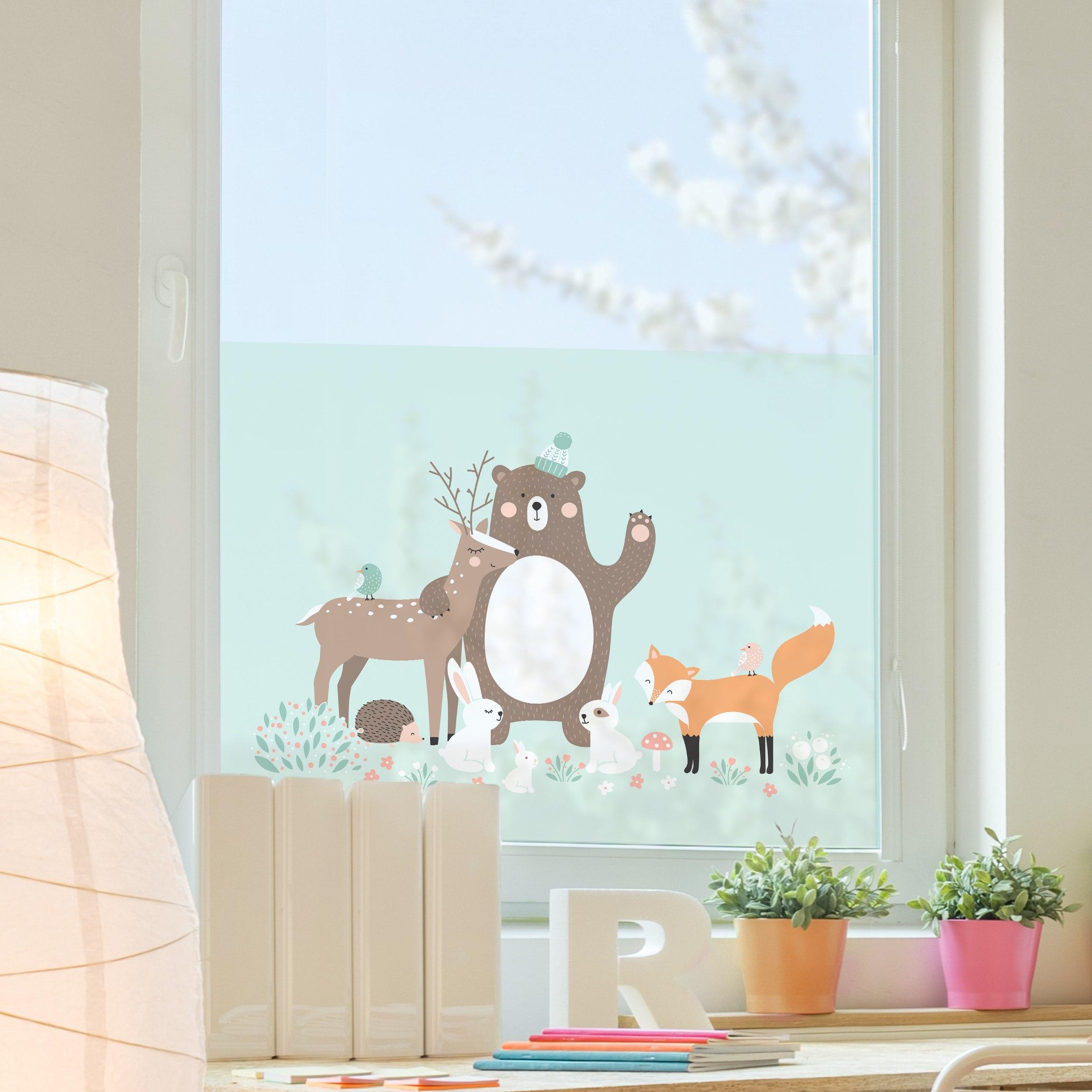 Full Size of Fensterfolie Sichtschutz Fenster Forest Friends Mit Waldtieren Einbauen Kosten Polnische Deckenlampen Für Wohnzimmer Auto Folie Plissee Auf Maß Fenster Sichtschutz Für Fenster