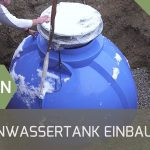Wassertank Garten Regenwassernutzung Unterirdischen Regenwassertank Einbauen Youtube Schaukelstuhl Bewässerungssystem Spielgeräte Ausziehtisch Gewächshaus Garten Wassertank Garten