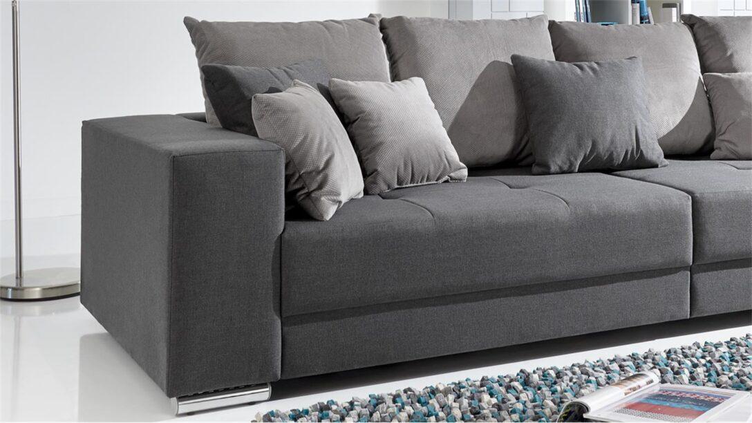 Large Size of Bigsofa Adria Sofa In Stoff Grau Couch Mit Vielen Kissen Ecksofa Garten Dreisitzer Breit Recamiere Elektrischer Sitztiefenverstellung Leinen Federkern Bunt Sofa Sofa Kissen