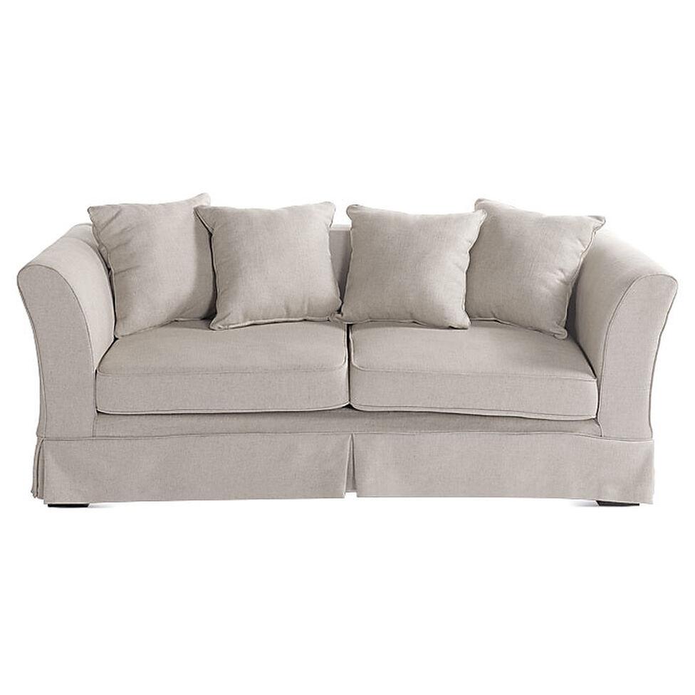 Full Size of Leinen Sofa 3 Sitzer Ihlow Beige L196 T86 H73 L Mit Schlaffunktion Mondo Schlafsofa Liegefläche 160x200 Hersteller Bunt Ewald Schillig Kolonialstil Grünes Sofa Leinen Sofa