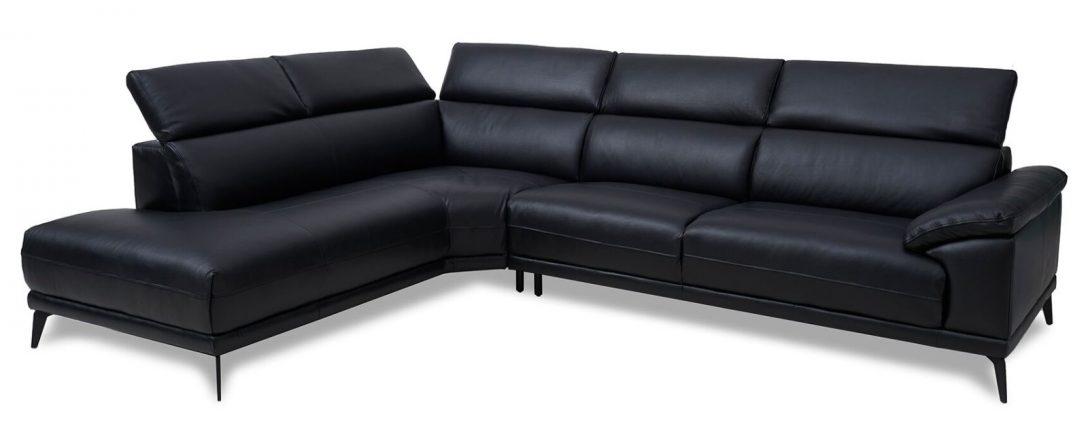 Large Size of Sofa Leder Eckcouch Samos In Schwarz Wohnlandschaft Couch Relaxfunktion Rahaus Esszimmer Erpo Konfigurator U Form Xxl Bunt Mit 3 Sitzer Ausziehbar Hocker Sofa Sofa Leder