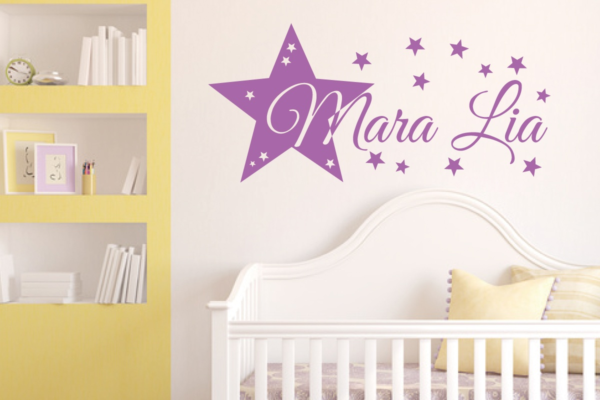 Full Size of Wandtattoo Kinderzimmer Stern Und Wunschname Regal Weiß Regale Sofa Kinderzimmer Wandaufkleber Kinderzimmer