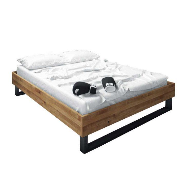 Medium Size of Design Bett Vaneri Aus Wildeiche Massivholz Ohne Kopfteil Einbauküche Kühlschrank Betten Weiß Weiße Füße Treca Günstig Kaufen 180x200 überlänge Bett Betten Ohne Kopfteil