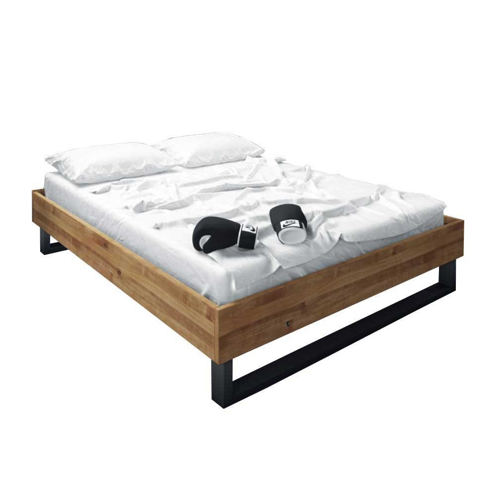 Full Size of Design Bett Vaneri Aus Wildeiche Massivholz Ohne Kopfteil Einbauküche Kühlschrank Betten Weiß Weiße Füße Treca Günstig Kaufen 180x200 überlänge Bett Betten Ohne Kopfteil