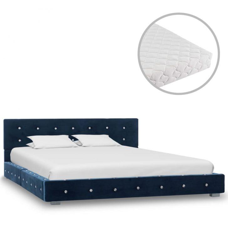 Medium Size of Bett Matratze Mit Blau Samt 140 200 Cm Gitoparts Betten Ikea 160x200 Zum Ausziehen Liegehöhe 60 Weißes 90x200 Schrank Schlafzimmer Set Boxspringbett Flexa Bett Bett Matratze