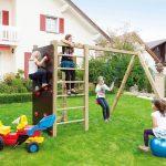 Spielanlage Garten Mit Schaukel Und Kletterwand Spiel Kinderschaukel Spielhaus Pergola Lounge Sessel Ecksofa Fussballtor Sitzgruppe Holz Loungemöbel Garten Spielanlage Garten