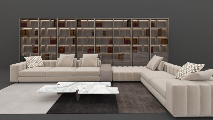 Medium Size of Minotti Sofa Alexander Outlet Lawrence Range Uk Preise Freeman Seating System Hamilton Dimensions Und Bibliothek 3d Modell Turbosquid 1344168 Big Kolonialstil Sofa Minotti Sofa