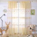 Floral Tll Vorhnge Fenster Screening Ginkgo Biloba Sofa Regal Regale Schlafzimmer Vorhänge Küche Weiß Wohnzimmer Kinderzimmer Kinderzimmer Vorhänge