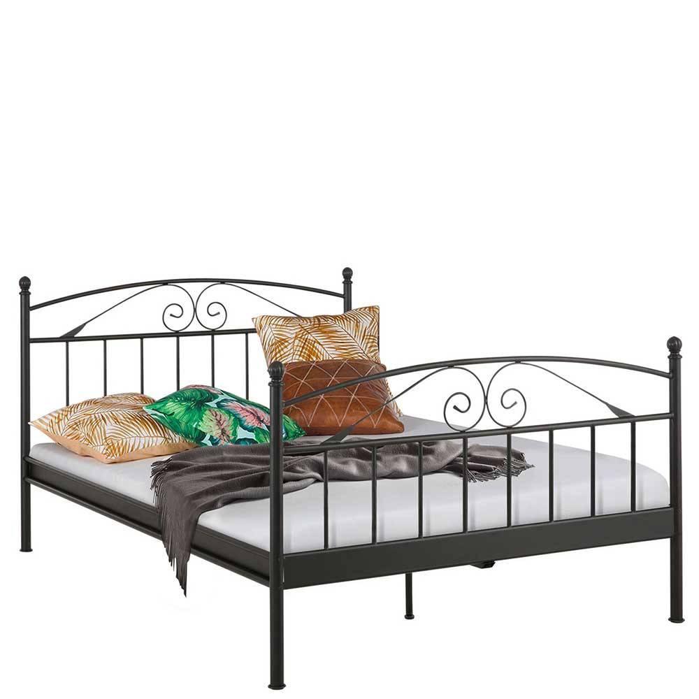 Full Size of Bett Vuena In Schwarz Aus Metall Pharao24de 90x200 Mit Lattenrost Und Matratze Schubladen Weiß Gepolstertem Kopfteil Sitzbank 140x200 Bettkasten Skandinavisch Bett Bett Vintage