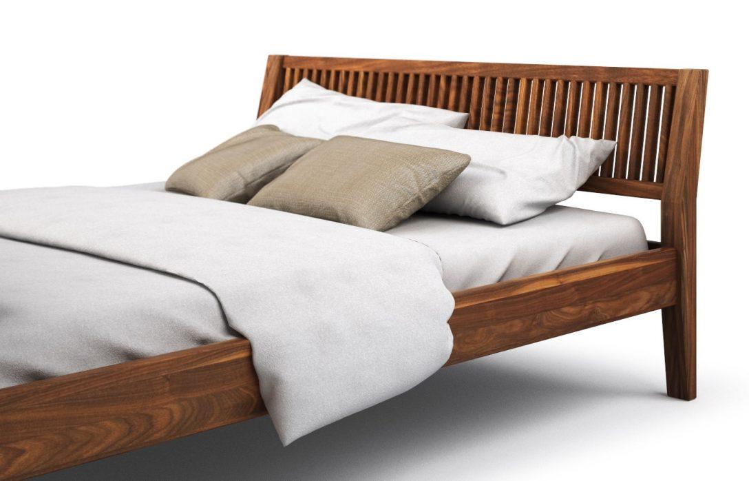 Large Size of Bett Nussbaum Massiv 180x200 120 X 200 90x200 Optik 200x200 Strena In Günstig Aus Paletten Kaufen Rauch Betten Mit Rückenlehne Hülsta Weiß Stauraum 140x200 Bett Bett Nussbaum