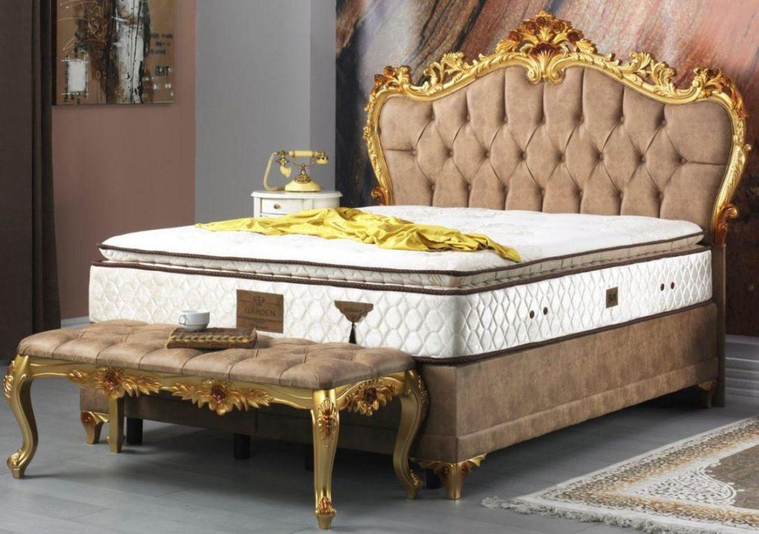 Large Size of Casa Padrino Barock Doppelbett Braun Gold Prunkvolles Samt Bett Mit Schubladen 160x200 Betten Frankfurt Ruf Preise 100x200 Eiche Tagesdecken Für Bett Bett Barock