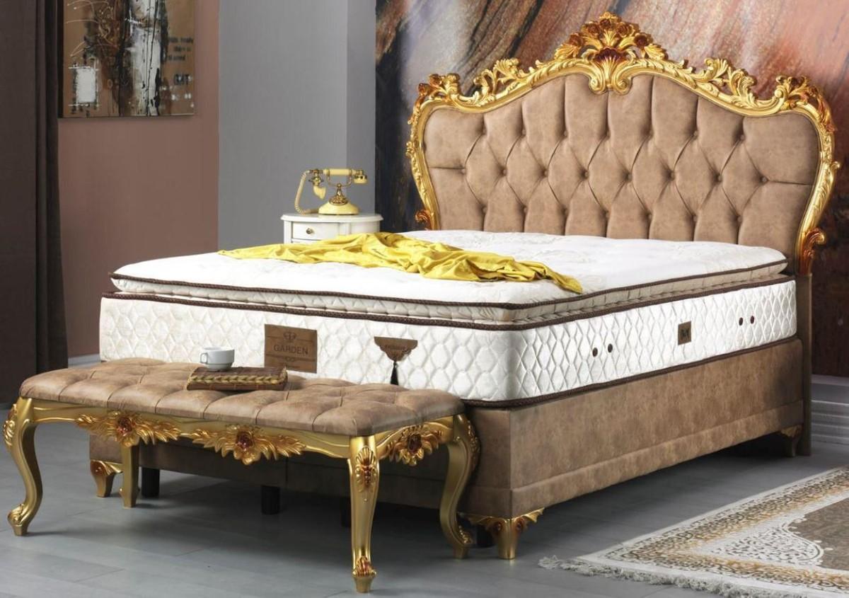 Full Size of Casa Padrino Barock Doppelbett Braun Gold Prunkvolles Samt Bett Mit Schubladen 160x200 Betten Frankfurt Ruf Preise 100x200 Eiche Tagesdecken Für Bett Bett Barock