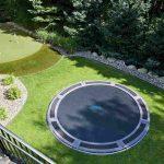 Trampolin Garten Bodentrampolin Im Der Spielspa Ist Garantiert Servierwagen Sauna Zaun Pavillon Spielgeräte Für Den Bewässerung Automatisch Klappstuhl Garten Trampolin Garten