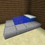 Großes Bett Bett Funktionales Groes Bett In Minecraft Bauen Bauideende Kopfteil 140 Massiv 180x200 Bette Floor Podest Mit Matratze Und Lattenrost 140x200 Ausgefallene Betten