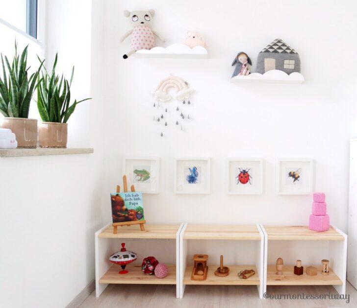 Medium Size of Cosimas Montessori Kinderzimmer Ourmontessoriway Weiß Hochglanz Regal Fächer Schmal Getränkekisten Ohne Rückwand 50 Cm Breit Günstig Badezimmer Industrie Regal Regal Babyzimmer