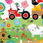 Wandbild Kinderzimmer Kinderzimmer Wandbild Kinderzimmer Tapete Huhn Emma Auf Dem Bauernhof Miyo Mori Regal Weiß Regale Wandbilder Wohnzimmer Schlafzimmer Sofa