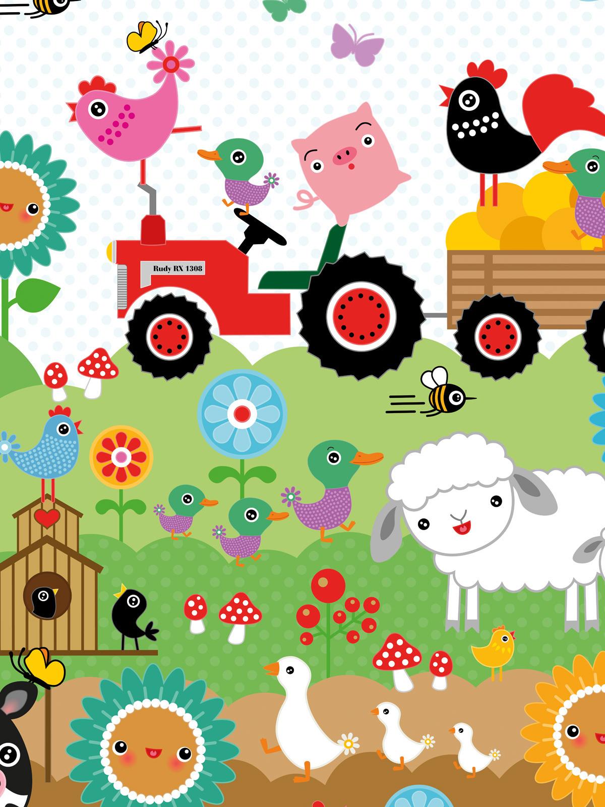 Full Size of Wandbild Kinderzimmer Tapete Huhn Emma Auf Dem Bauernhof Miyo Mori Regal Weiß Regale Wandbilder Wohnzimmer Schlafzimmer Sofa Kinderzimmer Wandbild Kinderzimmer