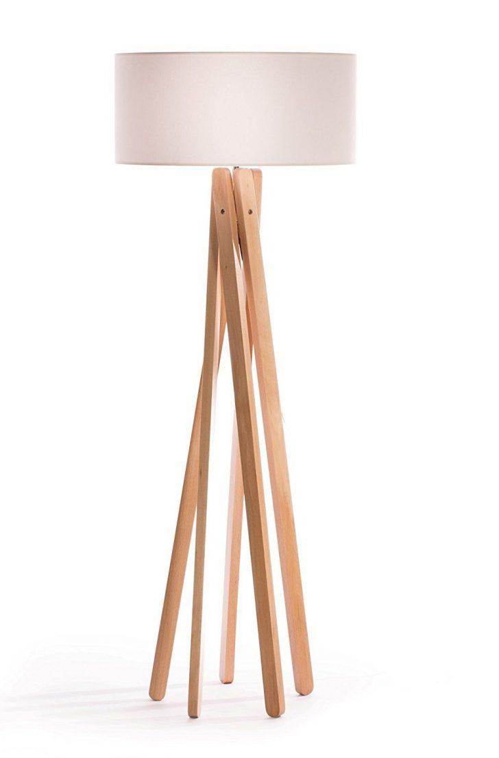 Medium Size of Stehlampe Holz Luxus Design Tripod Mit Hochwertigem Stoffschirm In Wei Wohnzimmer Alu Fenster Preise Esstisch Rustikal Holzofen Küche Altholz Betten Wohnzimmer Stehlampe Holz