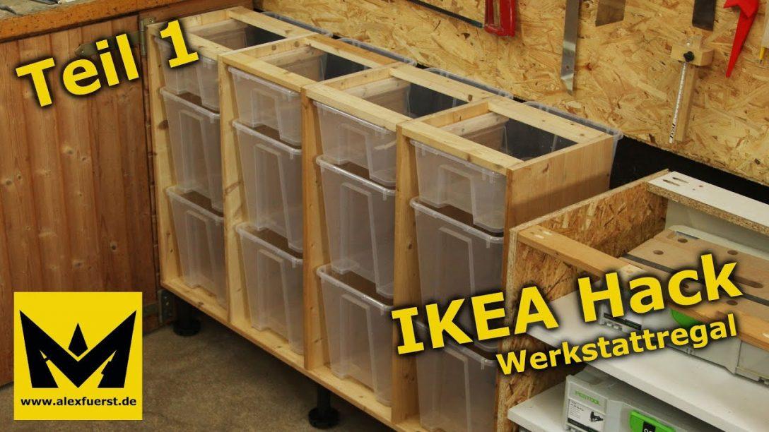 Large Size of Ikea Holzregal Hack Werkstattregal Aus Samla Boxen Teil 1 Youtube Küche Kosten Modulküche Betten Bei Sofa Mit Schlaffunktion Kaufen Miniküche 160x200 Wohnzimmer Ikea Holzregal