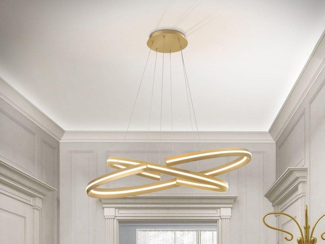 Large Size of Designer Lampen Hngelampe Elipse In Gold Und Led Esstische Badezimmer Betten Deckenlampen Für Wohnzimmer Modern Bad Esstisch Schlafzimmer Regale Stehlampen Wohnzimmer Designer Lampen