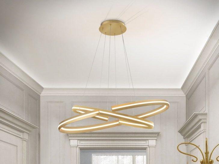 Medium Size of Designer Lampen Hngelampe Elipse In Gold Und Led Esstische Badezimmer Betten Deckenlampen Für Wohnzimmer Modern Bad Esstisch Schlafzimmer Regale Stehlampen Wohnzimmer Designer Lampen