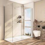 8mm Walk In Duschkabine Duschwand Esg Nano Glas Dusche Mit Begehbare Mischbatterie Ohne Tür Glaswand Wand Eckeinstieg Abfluss Bodengleiche Einbauen Dusche Glaswand Dusche