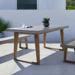Gartentisch Betonoptik In Akazie Und Stein Online Bestellen Küche Bad Wohnzimmer Gartentisch Betonoptik