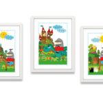 Bild Kinderzimmer Kinderzimmer Bild Kinderzimmer Poster Ritter Kunibert Drache Miyo Mori Regal Glasbilder Küche Großes Wohnzimmer Bilder Xxl Wandbilder Weiß Wandbild Modern Fürs Regale