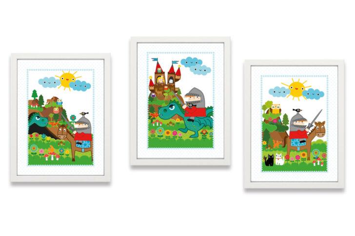 Medium Size of Bild Kinderzimmer Poster Ritter Kunibert Drache Miyo Mori Regal Glasbilder Küche Großes Wohnzimmer Bilder Xxl Wandbilder Weiß Wandbild Modern Fürs Regale Kinderzimmer Bild Kinderzimmer