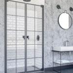 Pendeltür Dusche Doccia Doha Pendeltr In Nische Industrial Design Unterputz Badewanne Anal Glasabtrennung Glastür Begehbare Kaufen Hüppe Duschen Küche Dusche Pendeltür Dusche