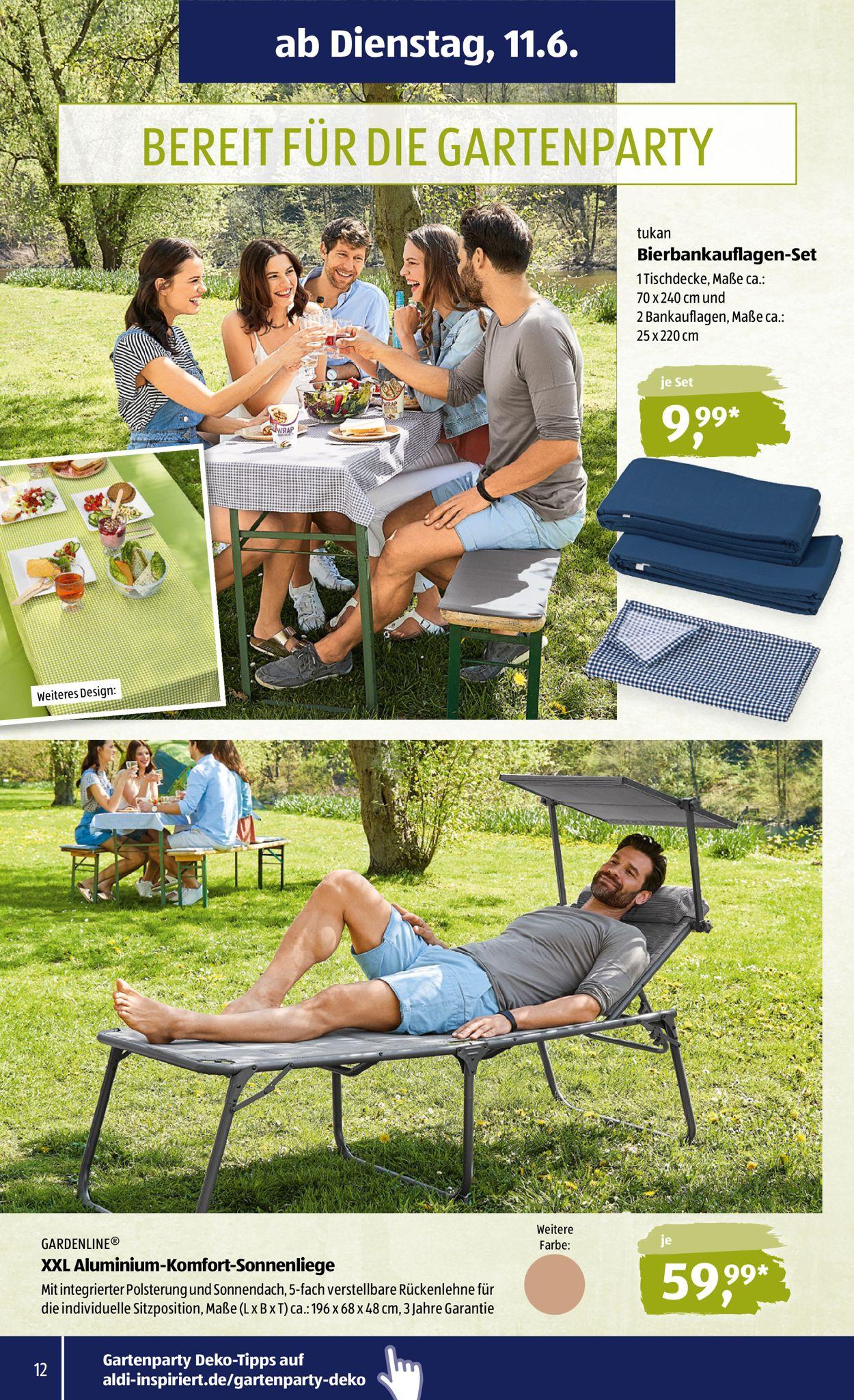 Full Size of Sonnenliege Aldi Sd Aktueller Prospekt 1106 15062019 12 Jedewoche Relaxsessel Garten Wohnzimmer Sonnenliege Aldi