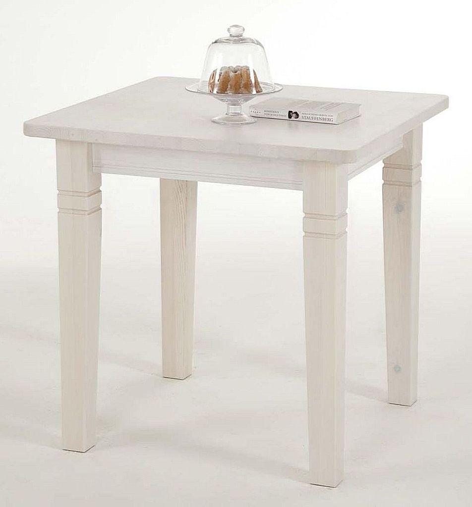 Full Size of Esstisch 80x80 Massivholz Kchentisch 78x78cm Wei Lasiert Kiefer Tisch Und Stühle Designer 2m Glas Ausziehbar Esstische Massiv Mit Stühlen Antik Holz Weißer Esstische Esstisch 80x80