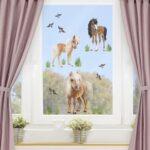 Kinderzimmer Pferd Kinderzimmer Kinderzimmer Pferd Fensterfolie Fenstersticker Animal Club Sofa Regal Weiß Regale