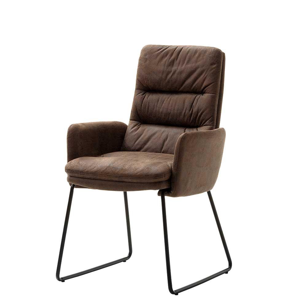 Full Size of Esstisch Stühle Sthle Marocana In Braun Microfaser Mit Armlehnen Weiß Ausziehbar Massiver 120x80 Holz Baumkante Glas Kleine Esstische Designer Rund Esstische Esstisch Stühle