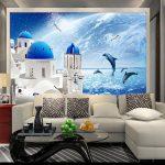 Schlafzimmer Tapeten Blau Himmel Meer Welt Schloss Wandbild Foto Tapete Fr Wohnzimmer Vorhänge Set Günstig Schrank Wandtattoo Komplett Weiß Wiemann Wohnzimmer Schlafzimmer Tapeten